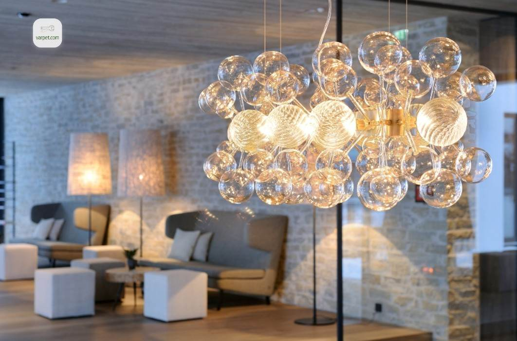 LED chandeliers with a control panel