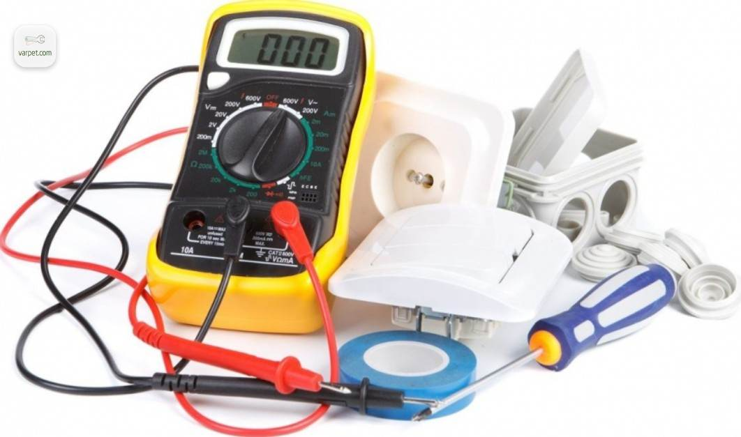 The materials for electrical work