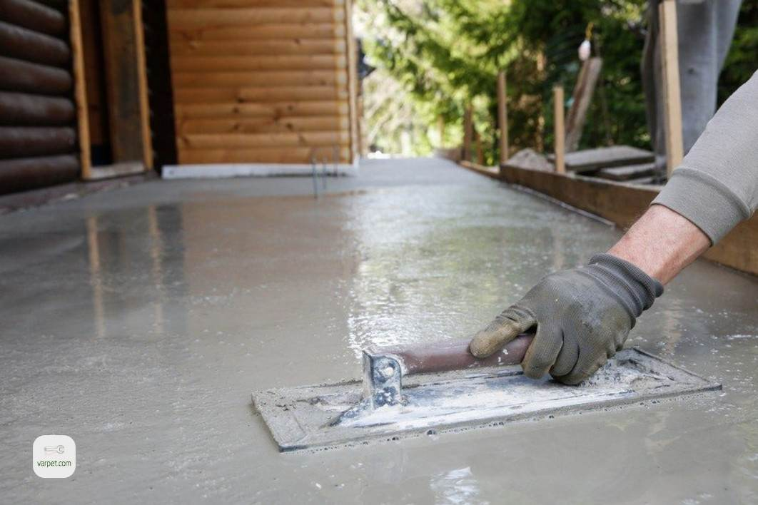 Creating a concrete blind area