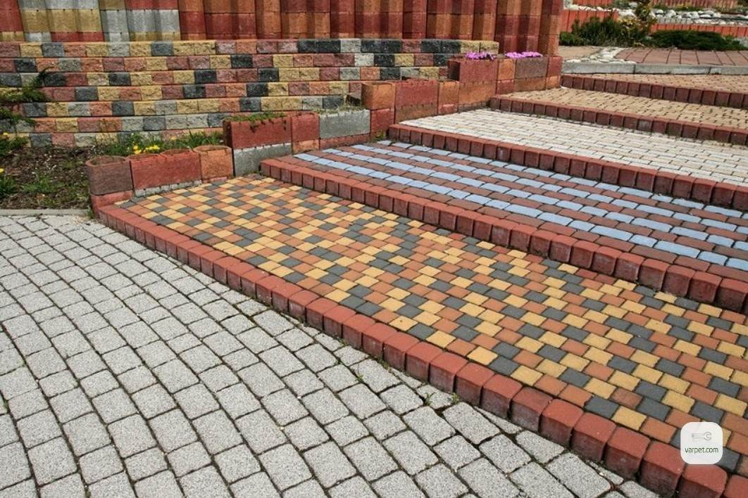 A combination of tiles of various types